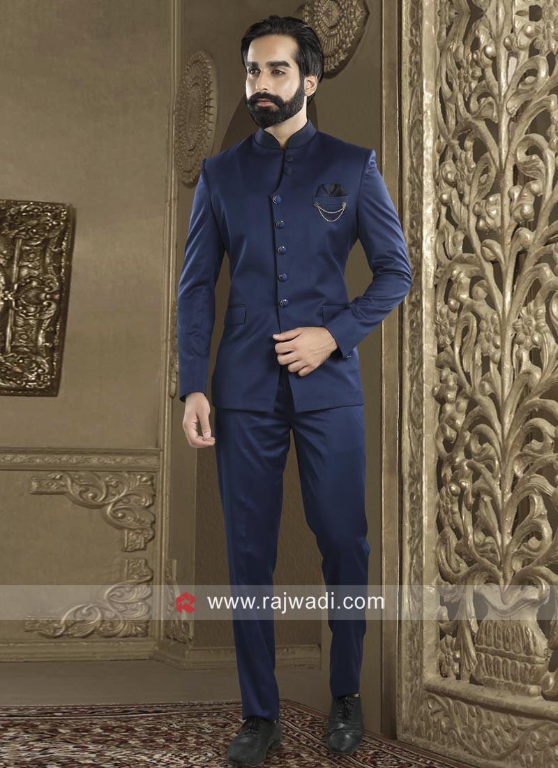Charming Royal Blue Jodhpuri Suit