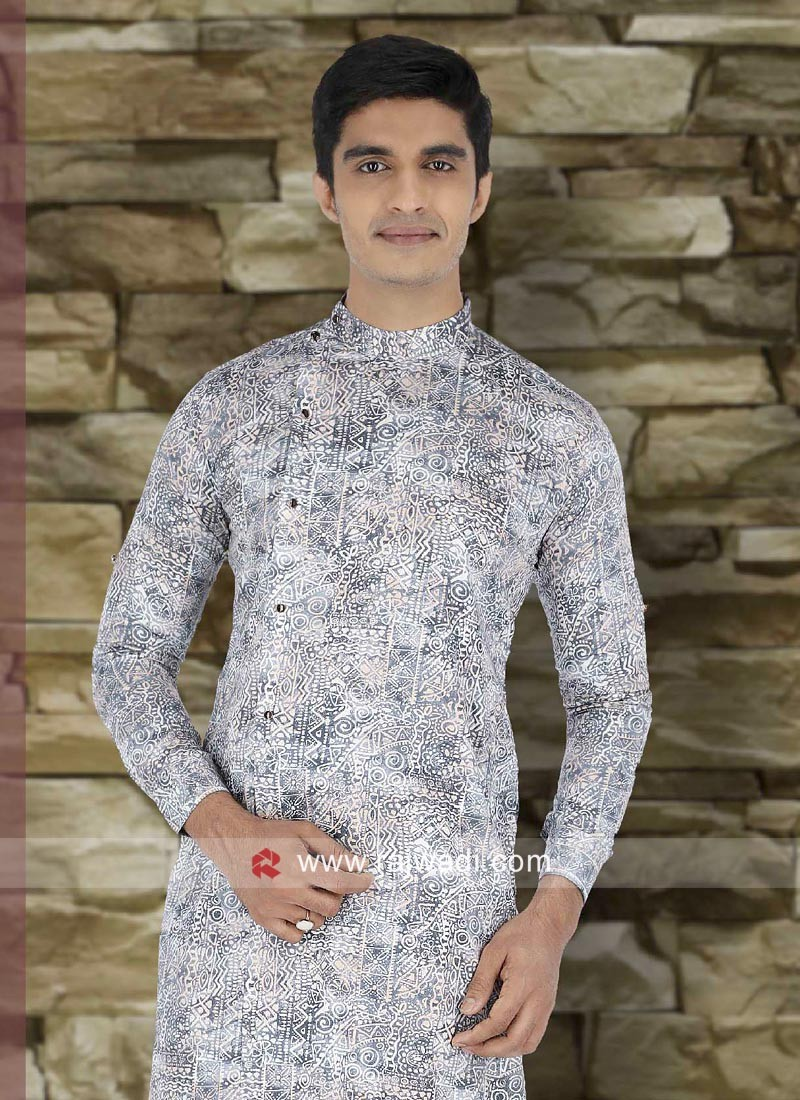 Charming Grey Color Kurta