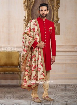 Charming Silk Fabric Indo Western For Wedding