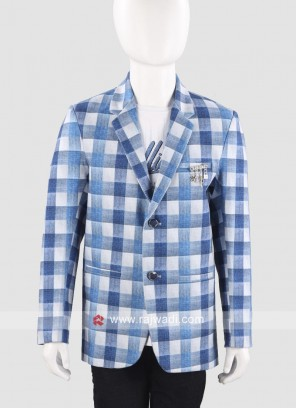 Charming Sky Blue Blazer For Boys