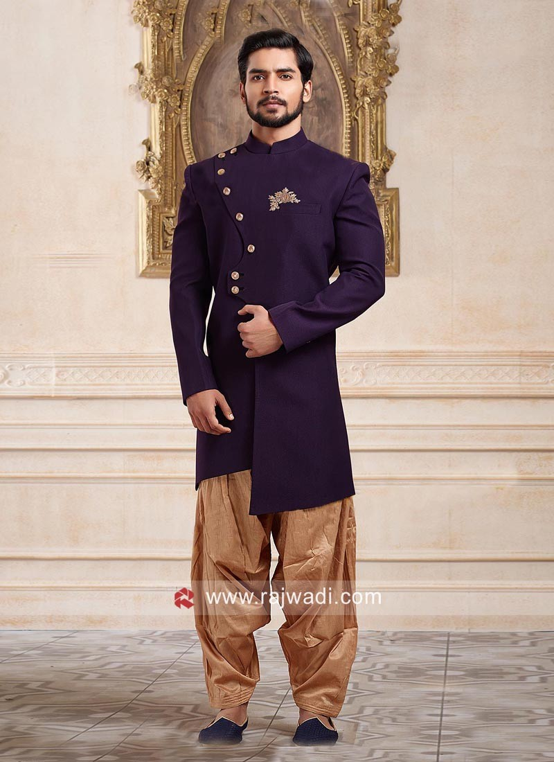 Charming Purple Color Indo Western