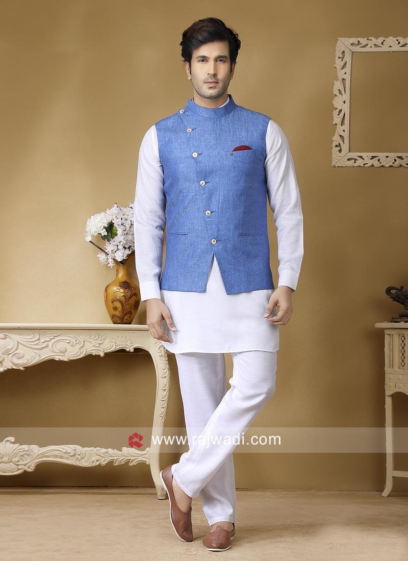 Charming Wedding Wear Nehru Jacket
