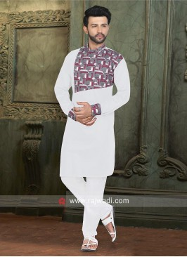 Charming White Color pathani Set