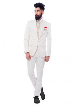 Charming White Color Suit