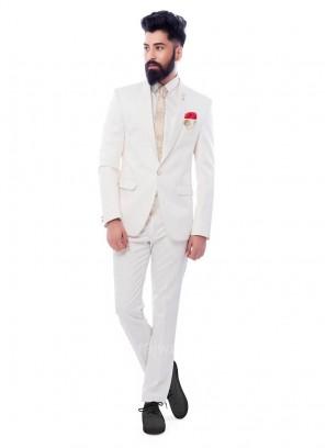 Charming White Color Suit