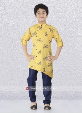 Charming Yellow Color Kurta Pajama For Boys