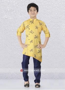 Charming Yellow Color Kurta Pajama For Boys