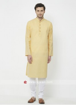 Charming Pineapple Yellow Kurta Set