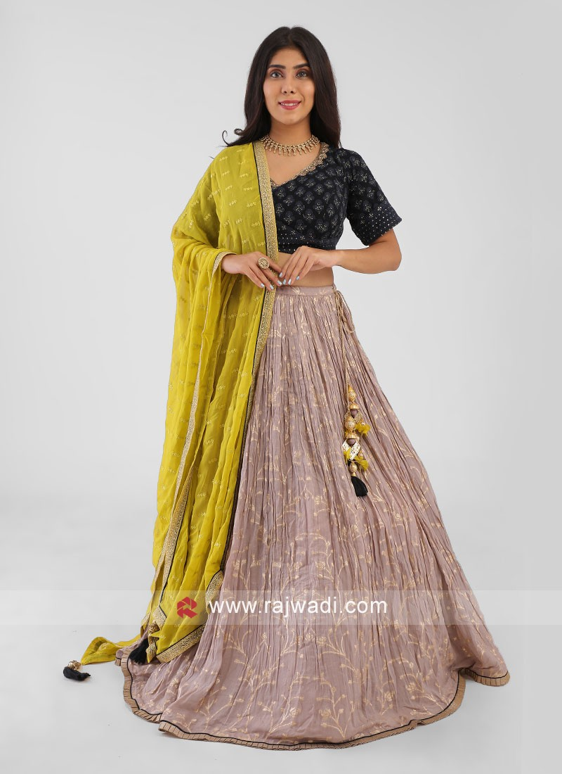 Chiffon Choli Suit With Dupatta