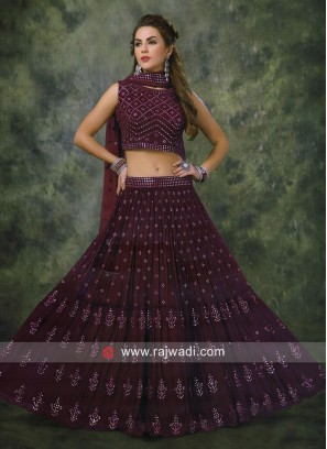 Chiffon Diamond Work Choli Suit
