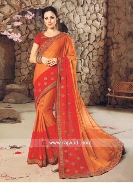 Chiffon Double Color Saree