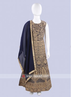 Chiffon Embroidered Anarkali Suit