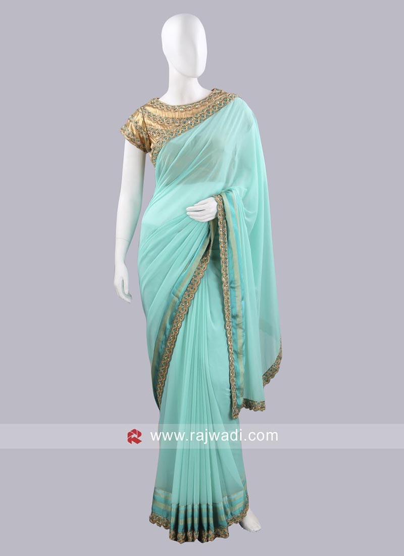 Chiffon Embroidered Saree