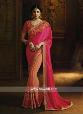 Chiffon half n half saree
