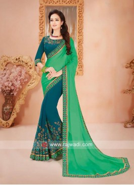 Chiffon Half Saree with Border