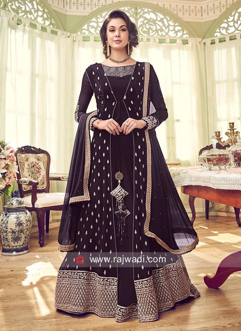 Chiffon Heavy Jacket Style Salwar Kameez