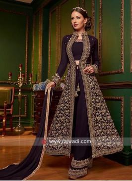 Chiffon Heavy Jacket Style Salwar Suit