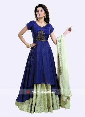 Chiffon Indo Western Choli Suit with Dupatta