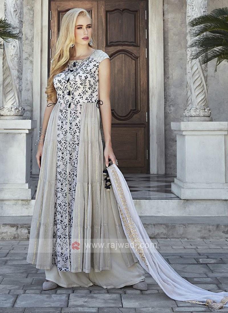 Chiffon Palazzo Suit with Dupatta