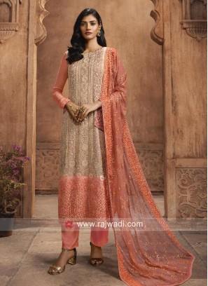 Chiffon Pant Style Salwar Kameez