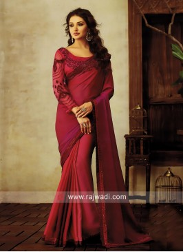 Chiffon Party Wear Saree with Blouse