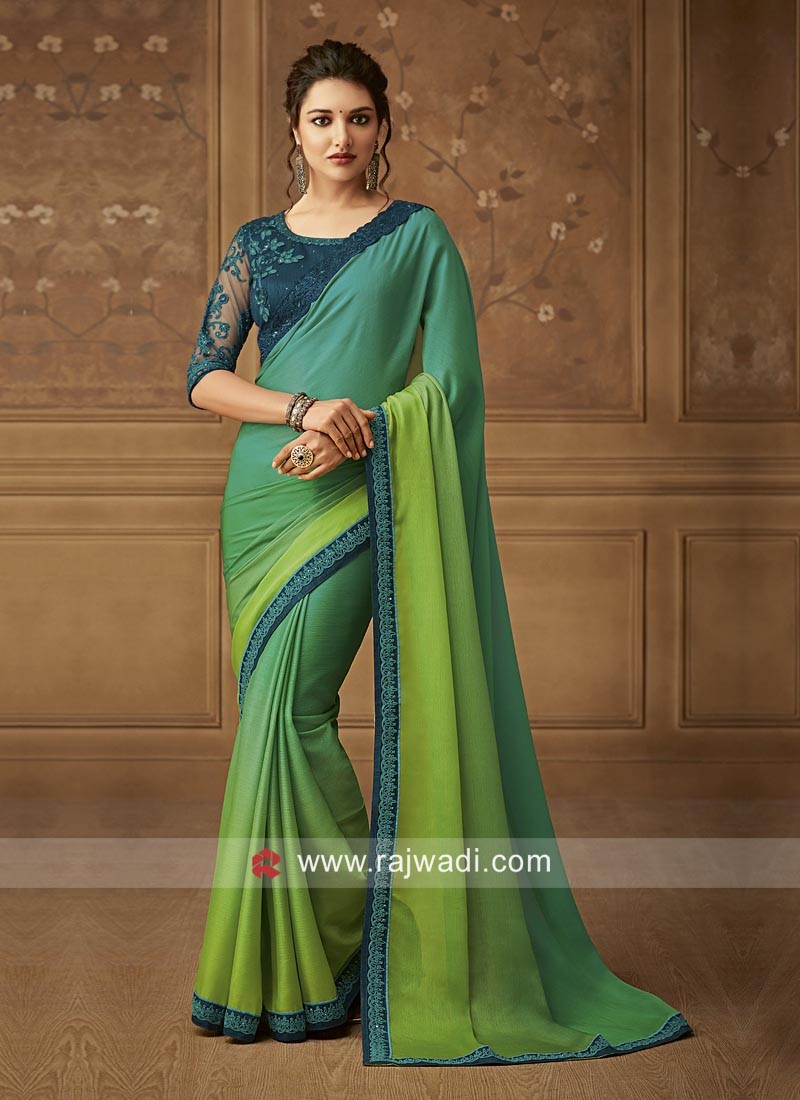 Chiffon Party Wear Shaded Saree