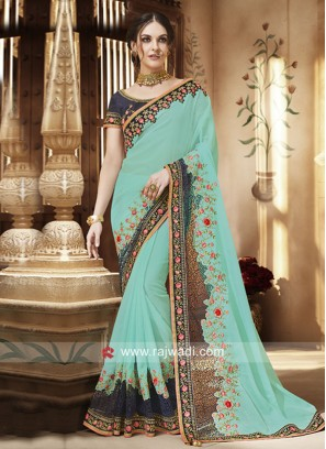 Chiffon Resham and Zari Work Saree