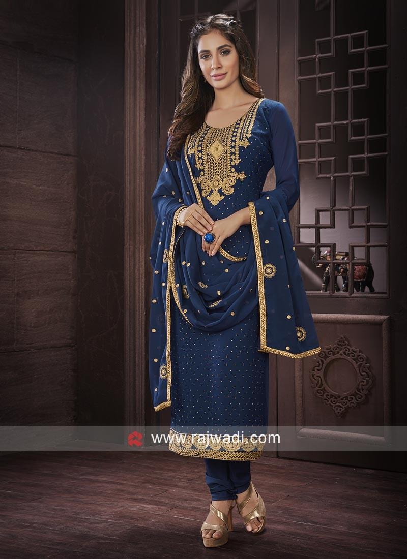 Chiffon Semi Stitched Salwar Suit