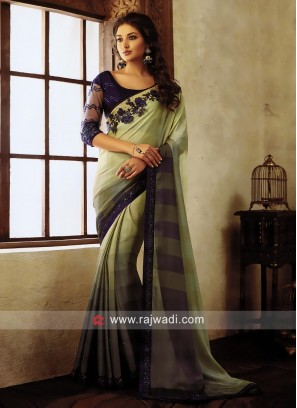 Chiffon Shaded Party Wear Saree