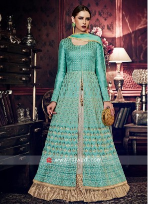 Chiffon Silk Abhaya Style Salwar Kameez