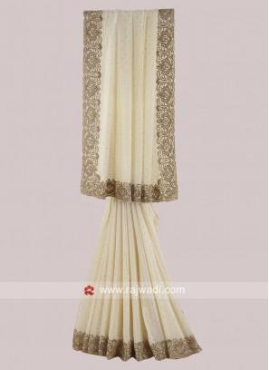 Chiffon Silk Border Work Saree