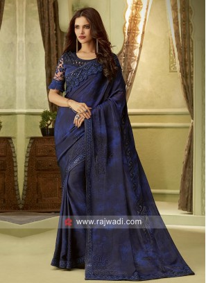 Chiffon Silk Designer Saree with Blouse