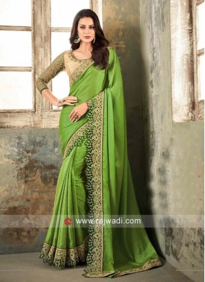 Chiffon Silk Embroidered Saree
