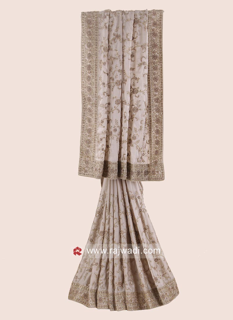 Chiffon Silk Embroidered Saree