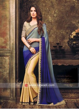 Chiffon Silk Half n Half Shaded Saree