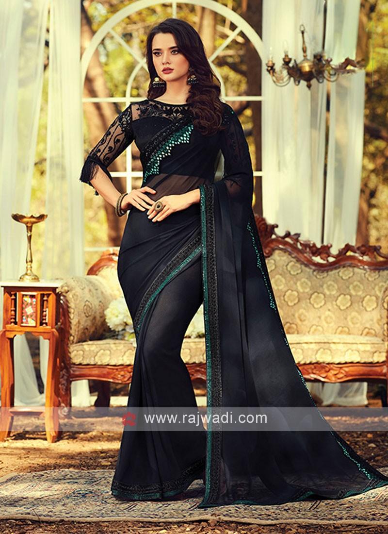 Chiffon Silk Party Wear Saree