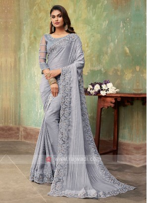 Chiffon Silk Party Wear Saree