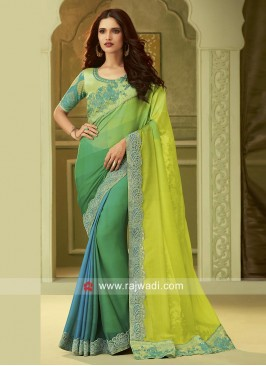 Chiffon Silk Party Wear Shaded Saree