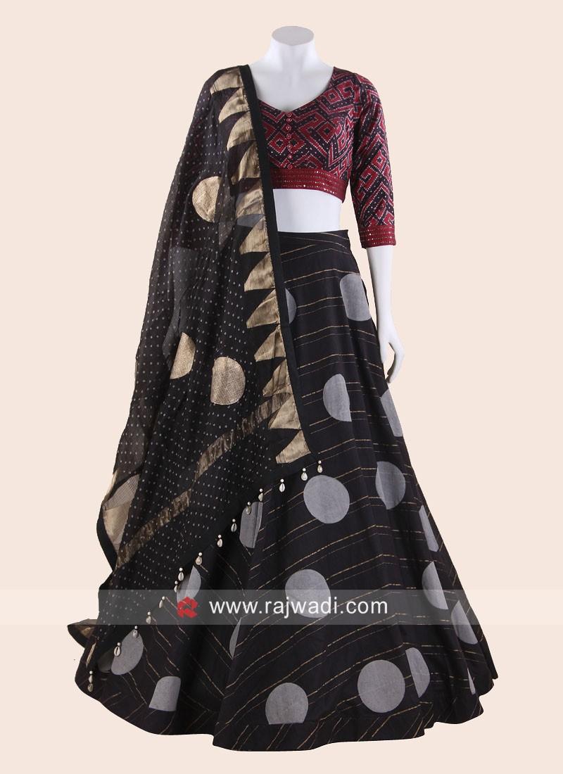 Chiffon Silk Printed Lehenga Choli