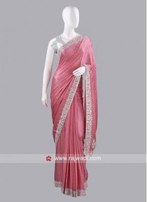Chiffon Silk Sari with Raw Silk Blouse
