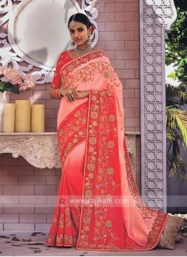 Chiffon Silk Shaded Designer Saree