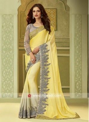 Chiffon Silk Shaded Party Wear Saree