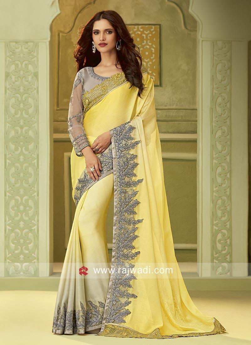 Chiffon Silk Shaded Party Wear Saree