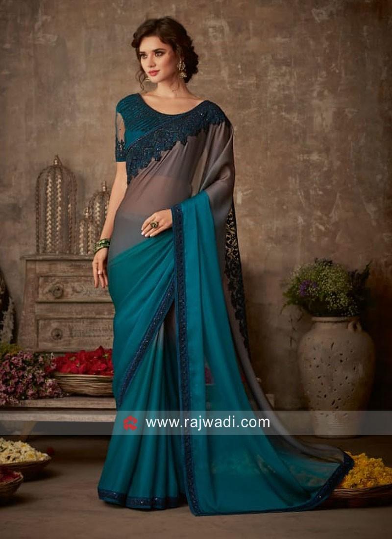 Chiffon Silk Shaded Saree