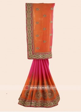 Chiffon Silk Shaded Saree with Blouse