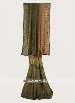 Chiffon Silk Shaded Saree with Border