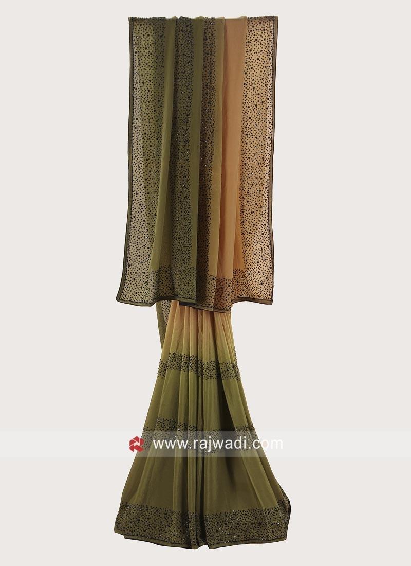 Chiffon Silk Shaded Saree with Border