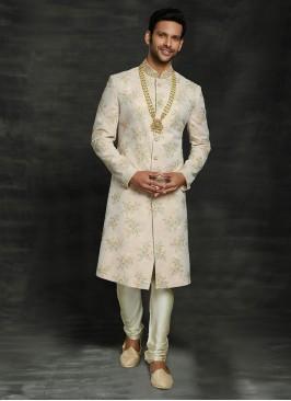Chiffon Silk Sherwani For Wedding