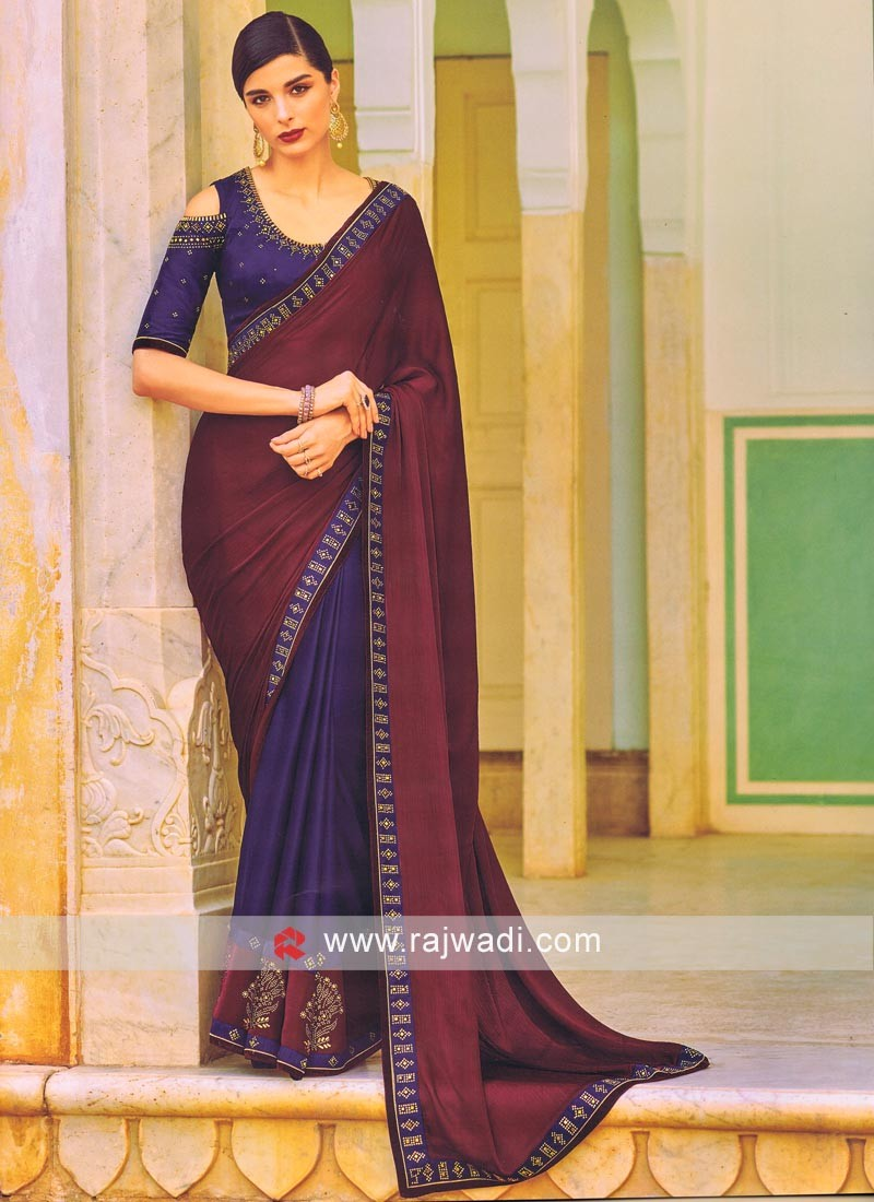 Chiffon Silk Stone Work Saree