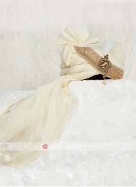 Chiffon Silk Turban For Wedding